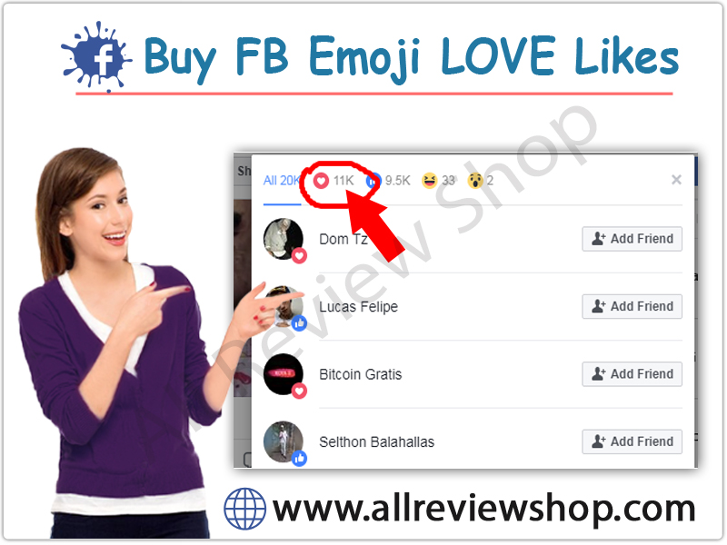 Buy Facebook Emoij Love Likes