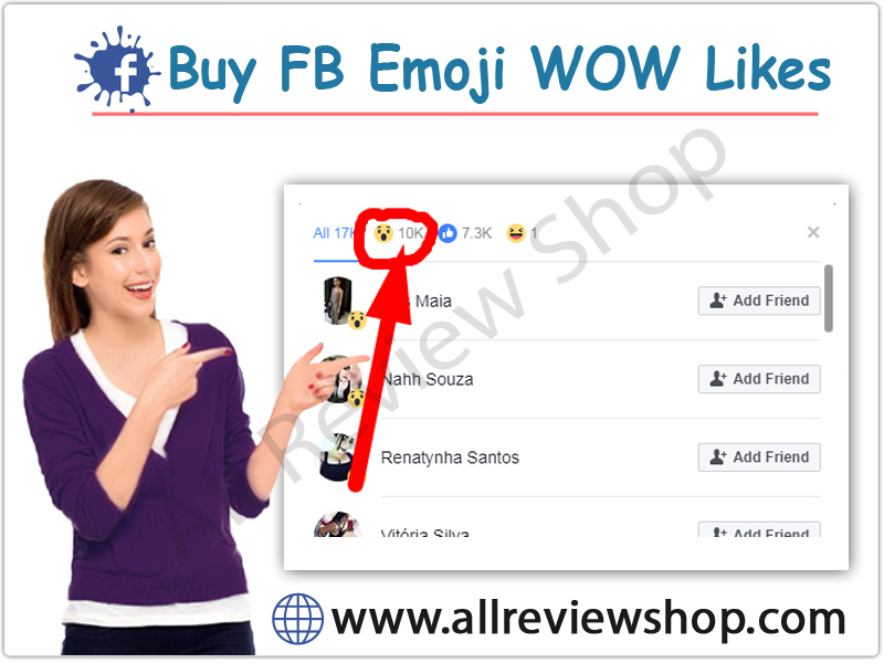 Buy Facebook Emoij WOW Likes