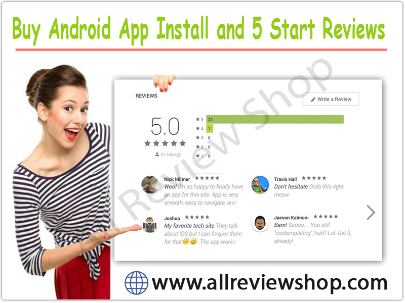 Android App Install and 5 Start