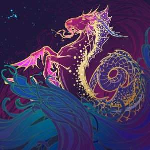 Zodiac sign Capricorn. Pastel colors