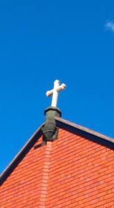 photo of newly erected cross