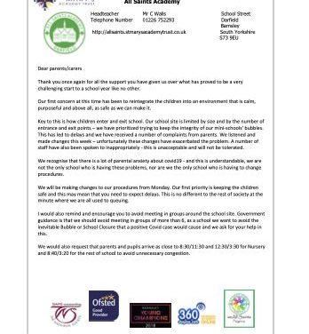 Newsletter 25 September 2020