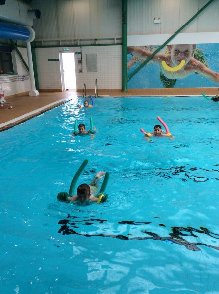 Swimming lessons…