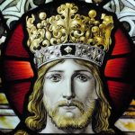 Photo of stained glass Christ the King