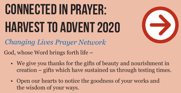 harvest to advent prayer