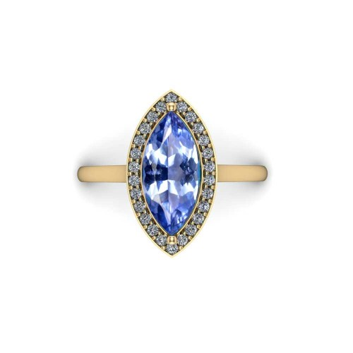 blue marquise sapphire ring