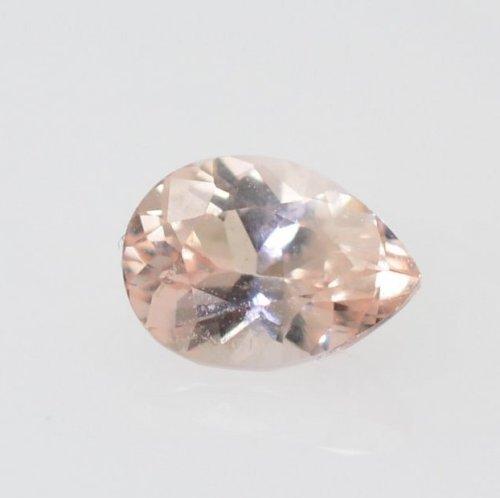 pear peach sapphire 0.5 carat