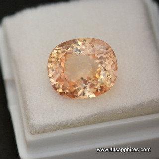 sunset peach sapphire