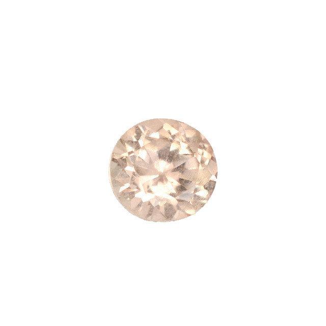 Round loose Peach Sapphire
