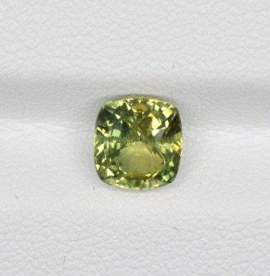 Cushion Yellowish Green Sapphire