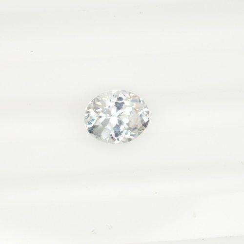 Oval white sapphire