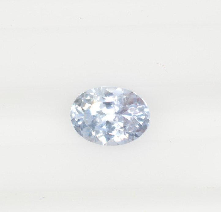 Oval bluish white sapphire