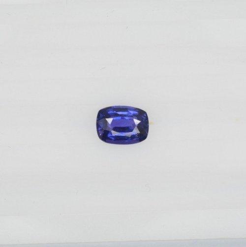 Royal blue to deep violet sapphire