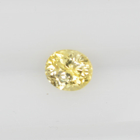 Yellow oval sapphire