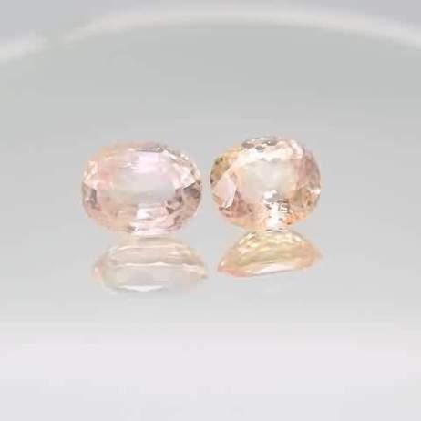 Peach sapphires