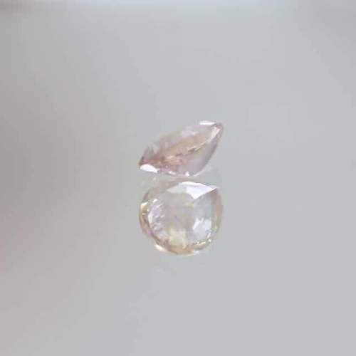 peach sapphire pear shape