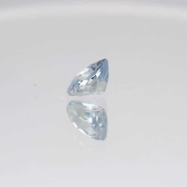 blue tint white sapphire