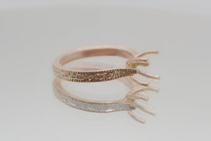 rose gold ring casting