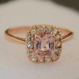 promise ring, rose gold promise ring, sapphire promise ring