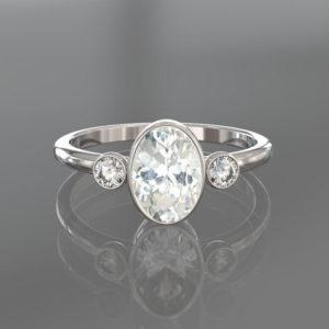 promise ring, rose gold promise ring, sapphire promise ring, white sapphire promise ring, gold promise ring