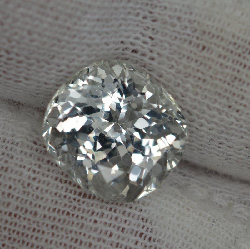 cushion white sapphire
