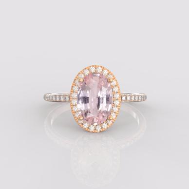Peach Sapphire Rings