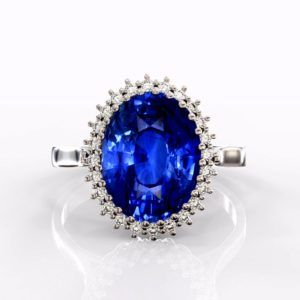 blue sapphires engagement ring