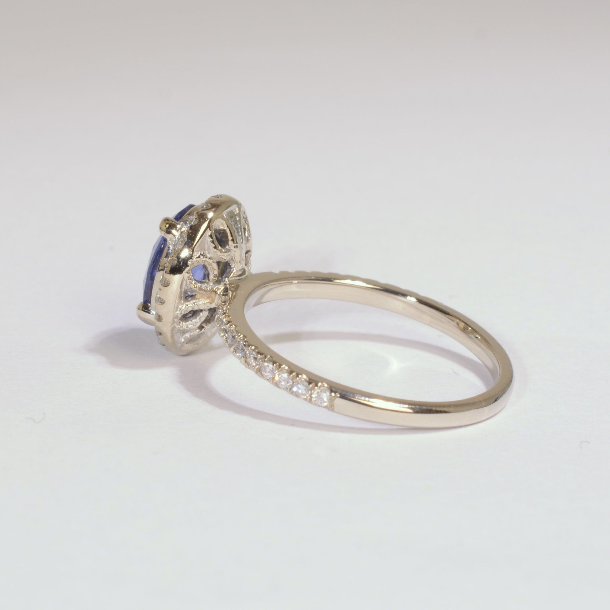 jewellers engagement blue sapphire pear shape dublin wedding gold products rings campbell white diamond ring