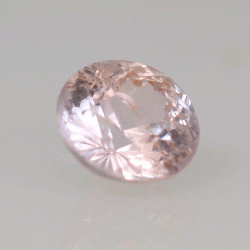 round untreated peach champagne sapphire