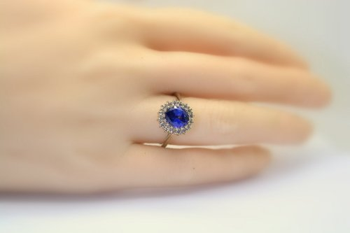 Buy engagement rings wedding bands with fine sapphires best price princess diana engagement ring with a 28 ct ceylon blue sapphire sku 6006 junglespirit Images