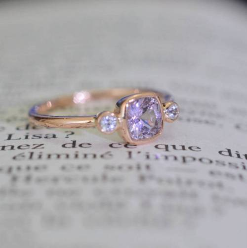 Cushion color change sapphire ring