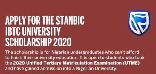 Stanbic IBTC University Scholarship for 2020 [UPDATED]