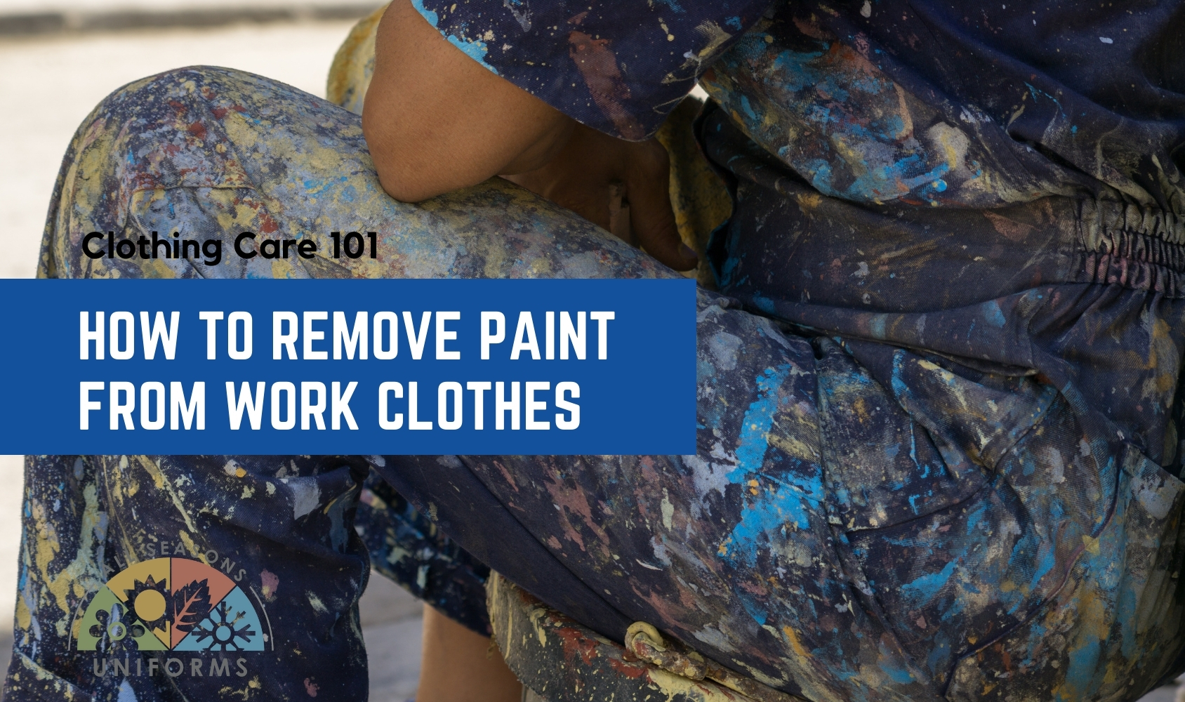 How to Remove Paint From Work Clothes