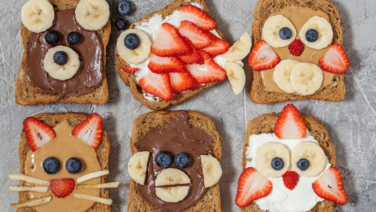 how to create pet faces with food