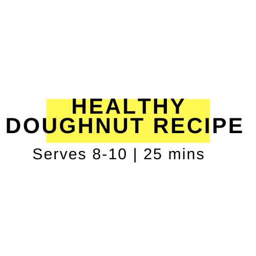 healthy doughnut recipe