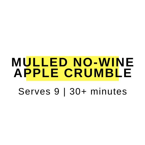 healthy apple crumble