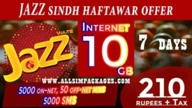 JAZZ SINDH HAFTAWAR OFFER