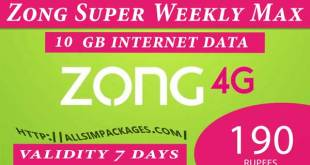 zong super weekly max