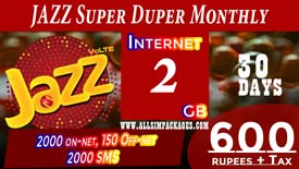 Jazz Super Duper Monthly Card