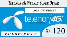 Telenor 4G weekly supper offer