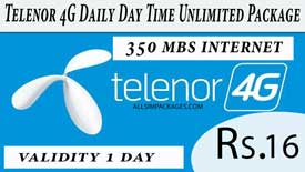telenor 4g daily day time unlimited package