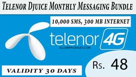 telenor djuice monthly messaging bundle