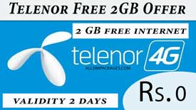 telenor free 2gb offer