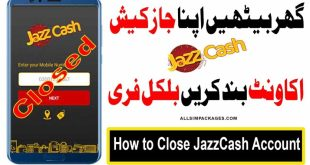 how to Delete JazzCash Account