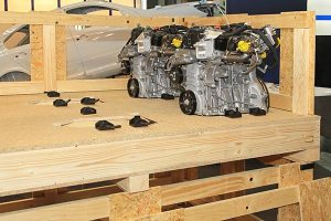 custom wood pallet for automotive parts