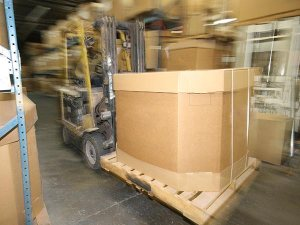Gaylord boxes for bulk storage and shipping