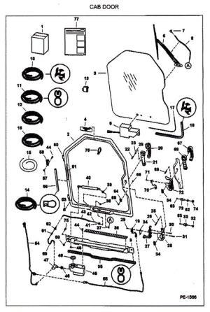 Bobcat Door Parts & BOBCAT 6715157 REAR BACK DOOR STRIKER