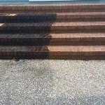 Brick Steps Half Pressure Washed