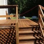 Wood Deck After Pressure Washing
