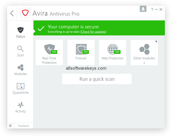 Avira Antivirus Pro Download with keygen for Windows + Mac